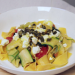zucchini ribbons and pasta recipe