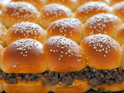 baby burgers on baguettes recipe