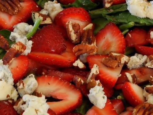 sesame strawberry salad recipe