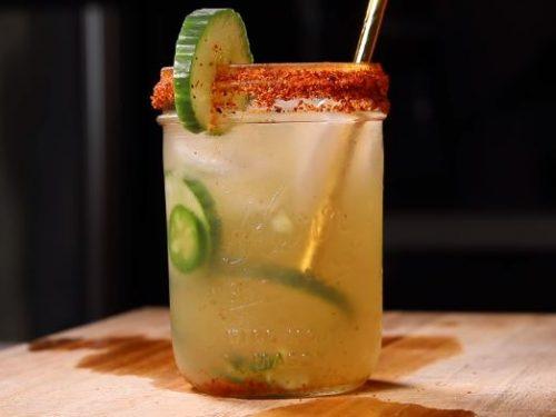 spicy cucumber margaritas recipe