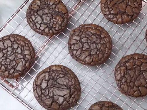 fudgy chocolate brownie cookies recipe