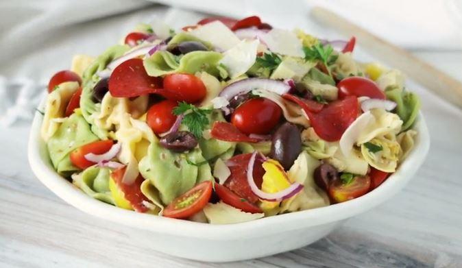 zesty tortellini bacon vegetable salad recipe