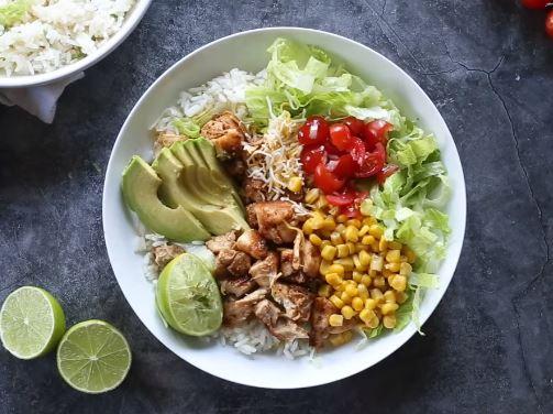burrito bowls with chicken recipe