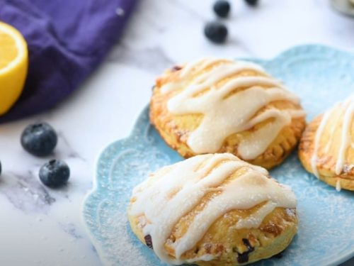 blueberries and cream hand pies recipe