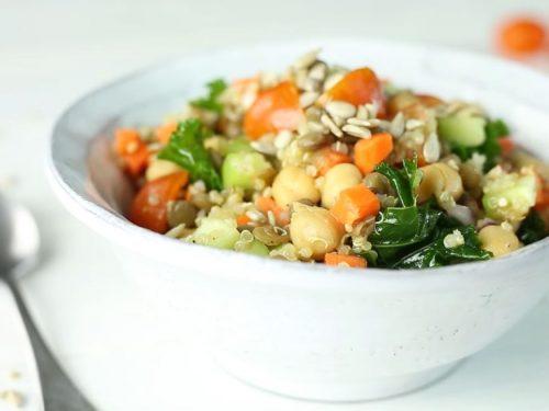 lentil, quinoa, and mung bean salad recipe