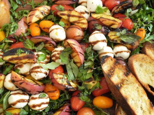 grilled peach summer salad recipe