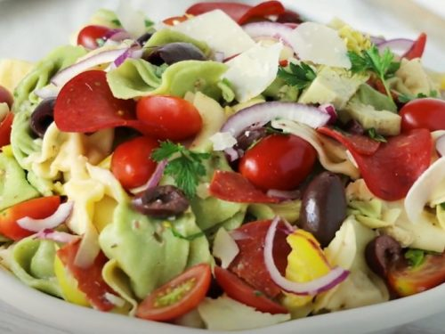spinach tortellini salad recipe