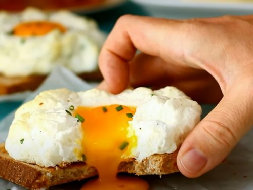 cloud eggs (egg nests) recipe