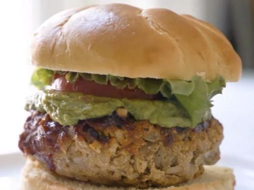 burgers with grilled vegetables recipe