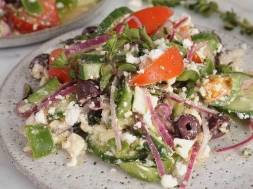 greek salad with pepperoni recipe