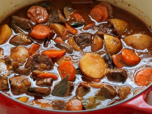 beef stew gratin recipe