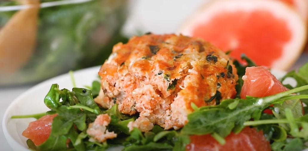 healthy salmon quinoa burgers recipe