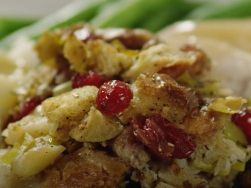 sausage, cranberry, and apple stuffing recipe