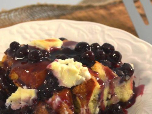 baked blueberry french toast casserole recipe