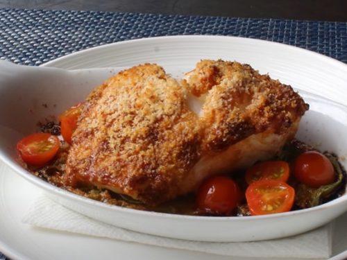 almond-crusted sea bass recipe