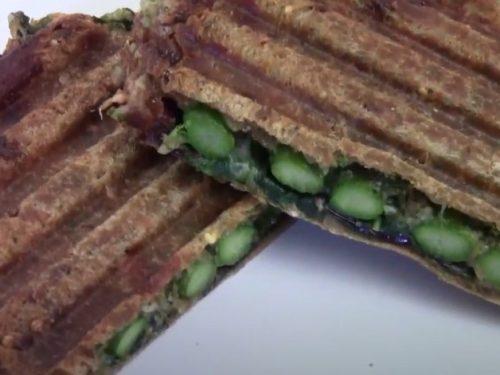 asparagus prosciutto panini with garlic mayonnaise recipe