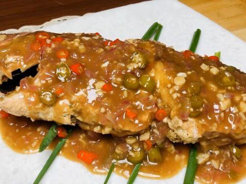pan fried red snapper in garlic sauce recipe (chillo al ajillo)