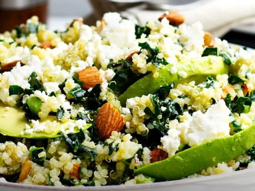 kale salad with quinoa and cranberries recipe