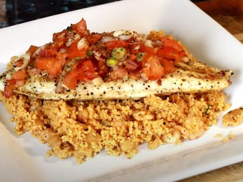 sea-bass couscous recipe