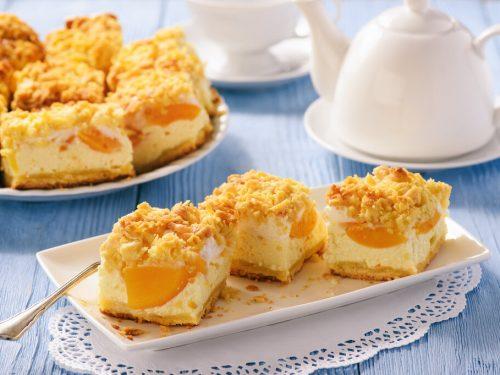 Peach Coffee Cake Recipe, homemade peach cake with crumb topping