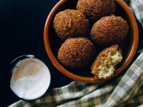 Air Fryer Falafel Recipe, air fried vegan falafel balls made with chickpeas