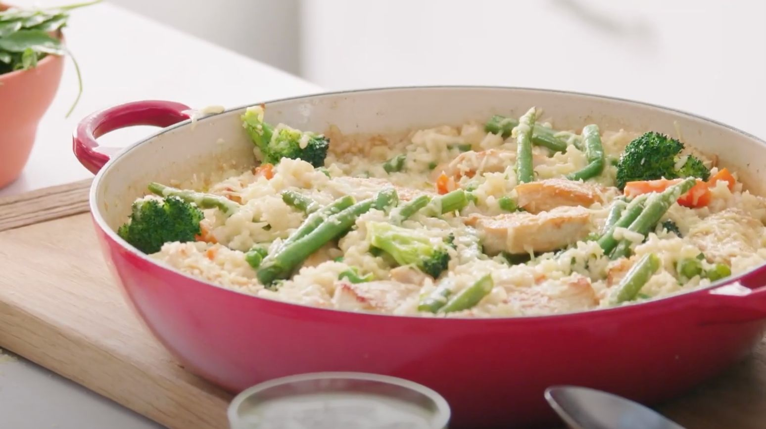 Baked Chicken and Cheese Risotto Recipe