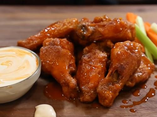 baked crispy buffalo chicken wings recipe
