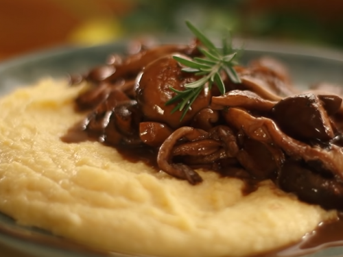 baked polenta with mushrooms recipe