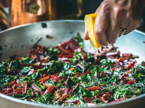 beet greens and grean beans recipe