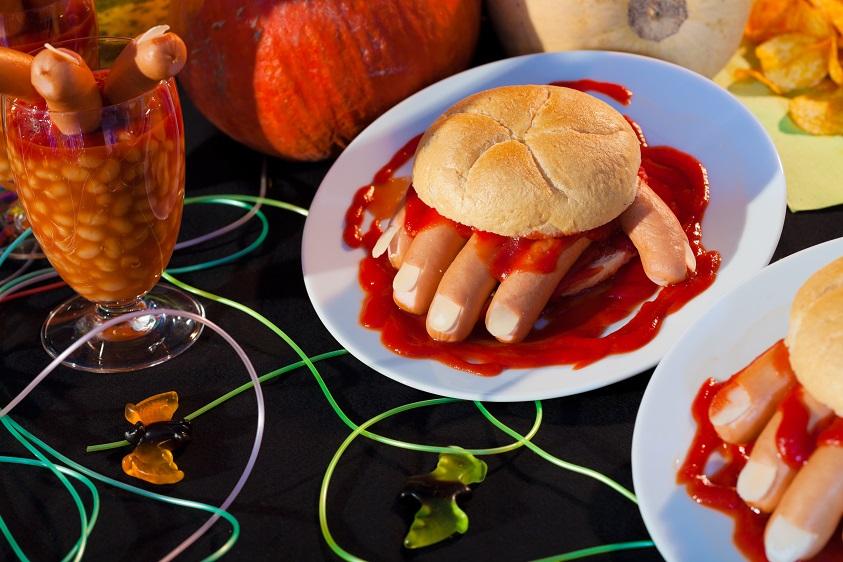 bloody hand sandwiches recipe