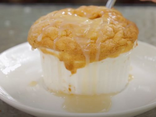 Bread Pudding Soufflé with Whiskey Sauce Recipe