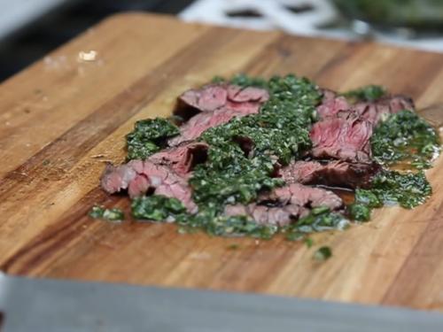 cast-iron ribeye steak with chimichurri recipe