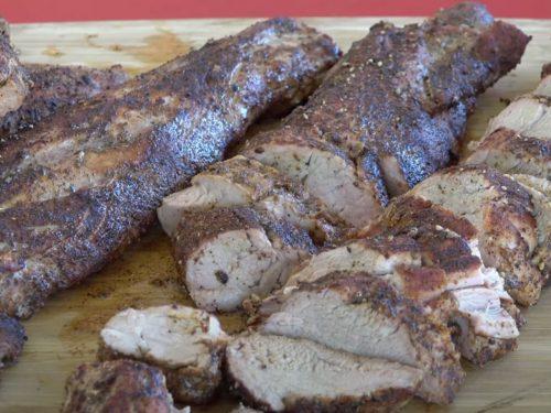 Chipotle-Marinated Pork Tenderloin with Black Bean Salsa Recipe