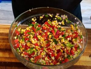 Corn Relish with Roasted Peppers Recipe