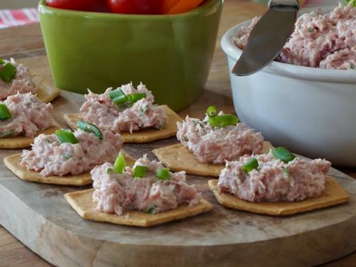 deviled ham salad on marbled rye bread recipe