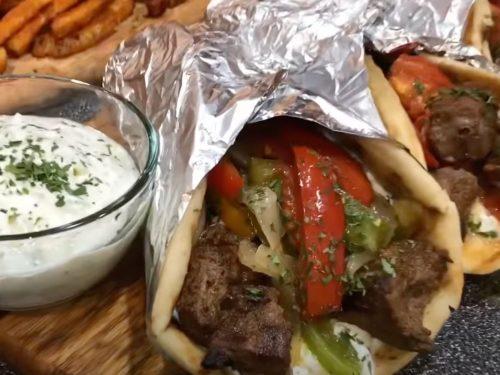 Flank Steak Souvlakis Recipe