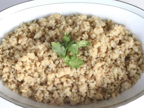fluffy lemon quinoa recipe