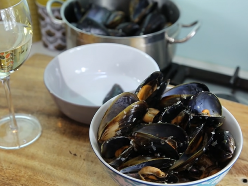 french steamed mussels recipe