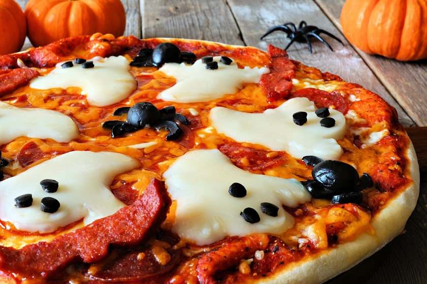 ghostly halloween pizza recipe