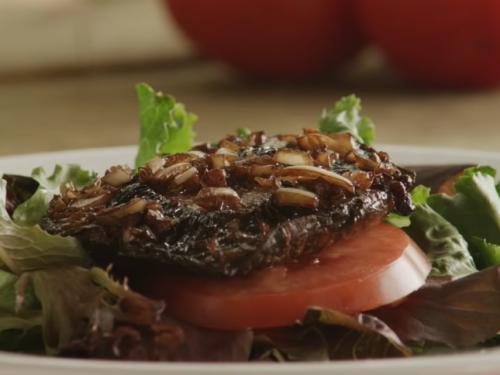 grilled portobello mushroom with beans recipe
