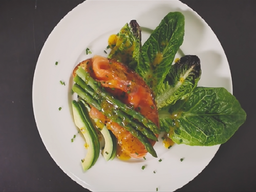 grilled salmon with avocado bruschetta recipe