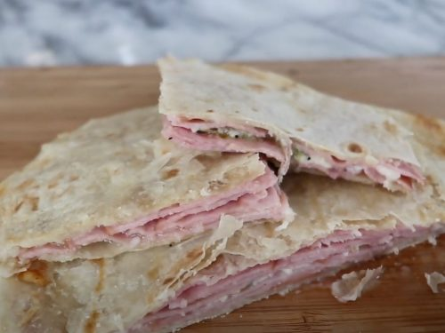 Smoky Ham and Cheese Quesadillas Recipe