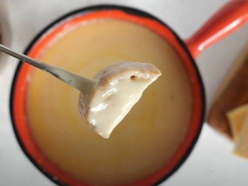 Homestyle Swiss Cheese Fondue Recipe