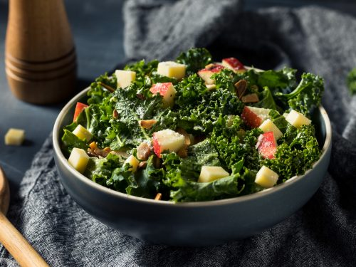 kale salad with apple and pecans recipe