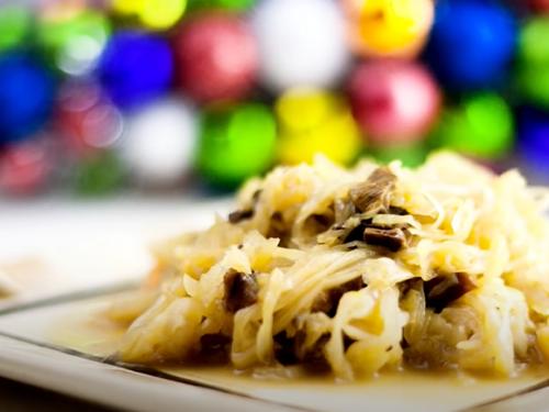 kapusta with mushrooms recipe