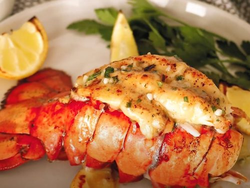Buttery Broiled Lobster Tail Recipe