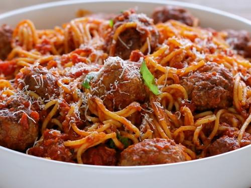 marinara meatball pasta recipe