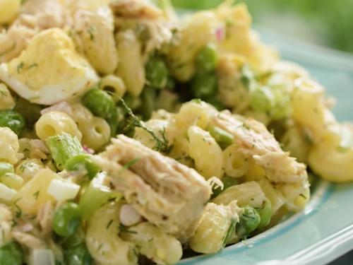 mayo-less tuna macaroni salad recipe