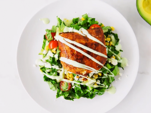 mexian grilled salmon salad recipe