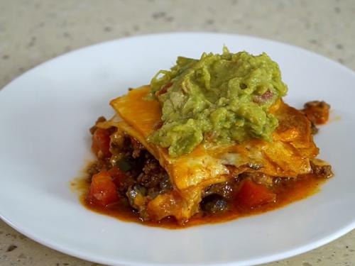 mexican lasagna (taco lasagna) recipe
